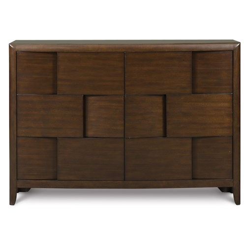 Next Generation by Magnussen Twilight  6-Drawer Dresser with Layered Panel Styling