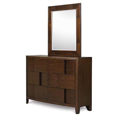 Belfort Select Youth Twilight  6-Drawer Dresser with Framed Portrait Mirror