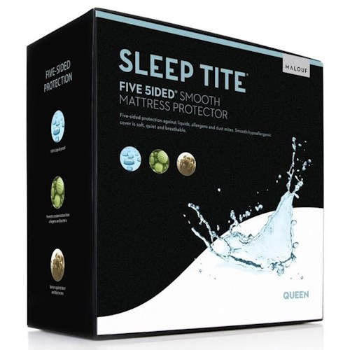 Malouf Five 5ided Smooth Queen Five 5ided Smooth Mattress Protector