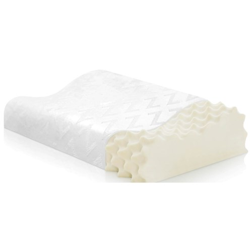 Malouf Specialty Pillows Convoluted Contour Latex Pillow