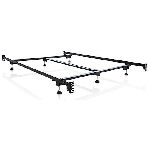Malouf Steelock Cal King Steelock Adaptable Hook-In Headboard Footboard Bed Frame