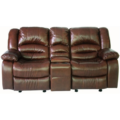 Cheers Sofa XW8279M Console Glider Recliner Loveseat