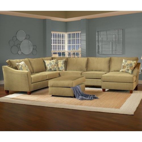 Belfort Essentials Fleetwood 6 Seat Sectional Sofa with Right Facing Chaise