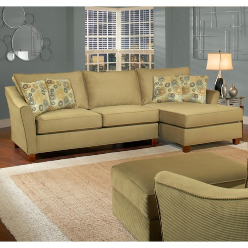 Belfort Essentials Fleetwood 3 Seat Sectional Sofa with Right Facing Chaise