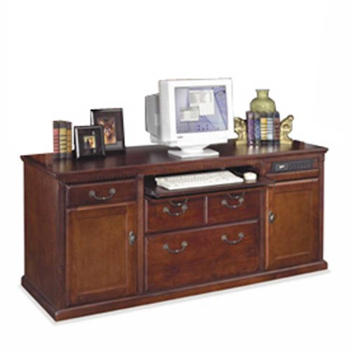 kathy ireland Home by Martin Huntington Club Storage Computer Credenza with Keyboard Storage