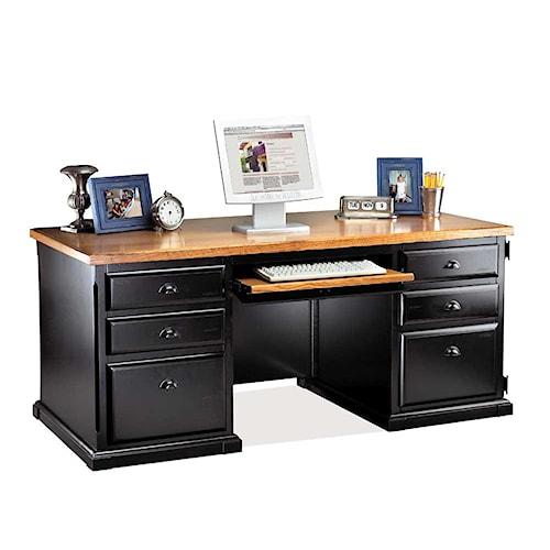 kathy ireland Home by Martin Southampton Double Pedestal Computer Desk
