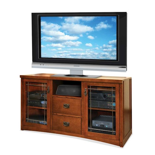 kathy ireland Home by Martin Mission Pasadena Tall Console For Flat Panel Televisions