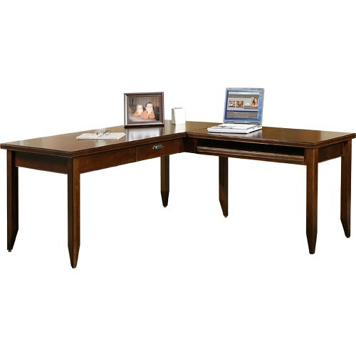 kathy ireland Home by Martin Tribeca Loft L-Shaped Writing Desk and Return