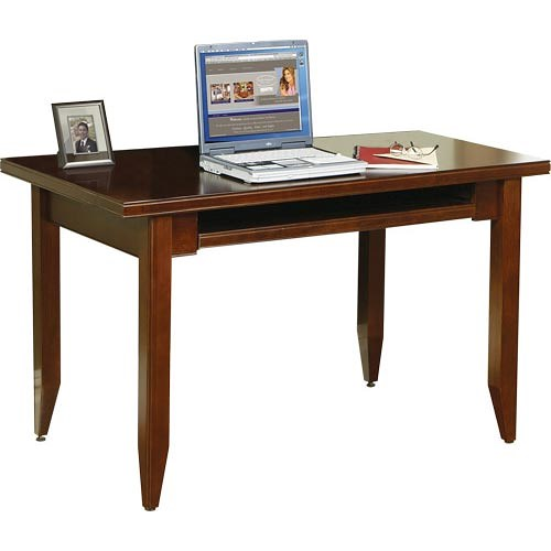 kathy ireland Home by Martin Tribeca Loft Table Desk With Keyboard Pull-Out