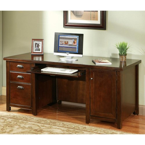 kathy ireland Home by Martin Tribeca Loft Double Pedestal Computer Desk