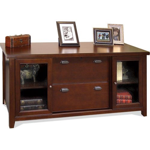 kathy ireland Home by Martin Tribeca Loft Storage Credenza With Sliding Doors
