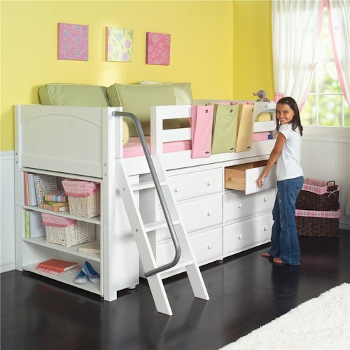Maxtrix Kicks Low Loft Bed with Underbed Storage