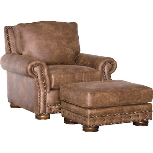 Mayo 2900 Traditional Chair with Rolled Arms and Nailhead Trim