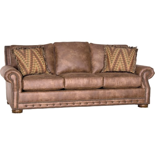 Mayo 2900 Rolled Arm Sofa w/ Nailhead Trim