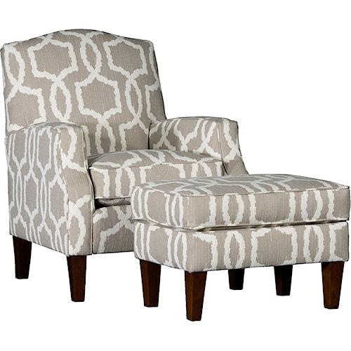 Mayo 3725 Camel Back Chair & Ottoman Set
