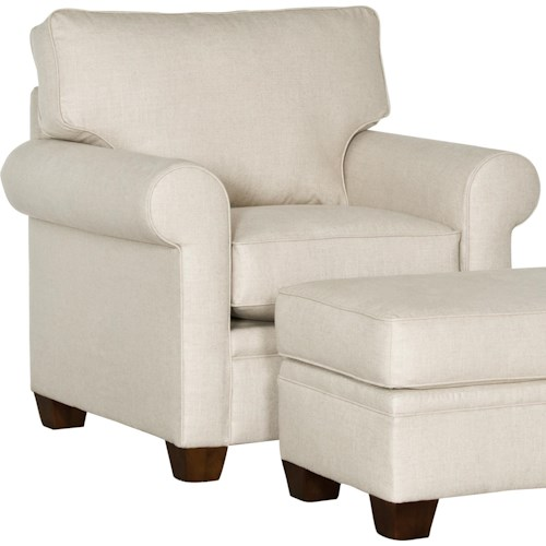 Mayo 5640 Transitional Chair with Rolled Arms