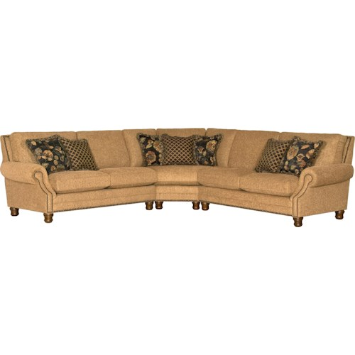 Mayo 5790 Traditional 3 Piece Sectional Sofa