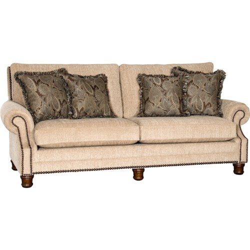 Mayo 5790 Traditional Sofa with Rolled Arms and Nailhead Trim