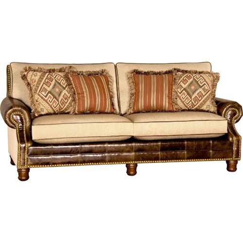Mayo 580 Traditional Sofa with Turned Wood Feet