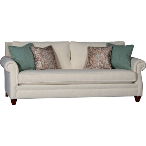 Mayo 7240 Rolled Arm Sofa w/ Tapered Feet