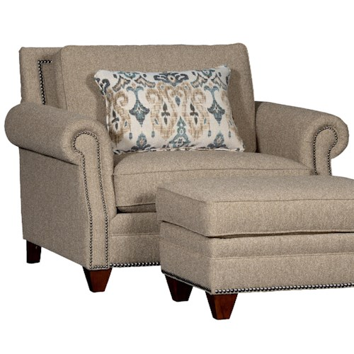 Mayo 7240 Upholstered Chair w/ Roll Arms