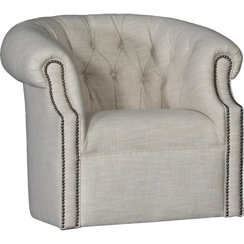 Mayo 8220 Swivel Tub Chair w/ Tufted Back