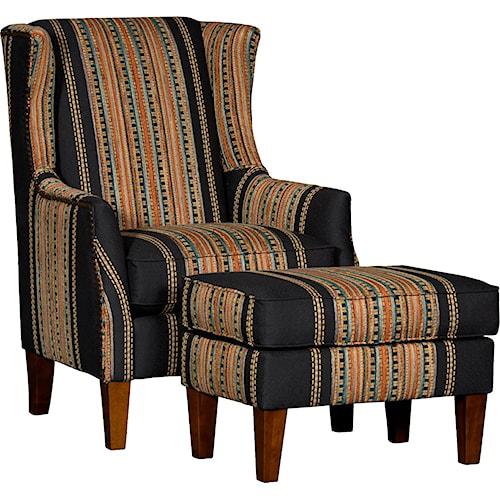 Mayo 8840 Wing Chair & Ottoman Set