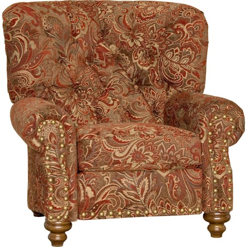 Mayo 9310 Traditional Upholstered Chair with Tufted Back