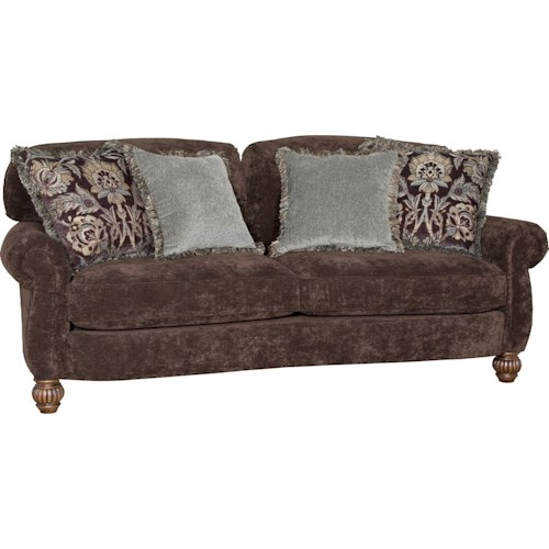 Mayo 2780 Traditional Stationary Sofa with Fluted Spool Legs