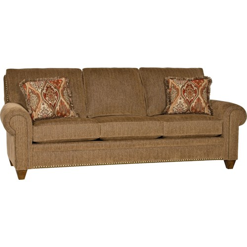 Mayo 2840 Traditional Stationary Sofa with Tapered Legs