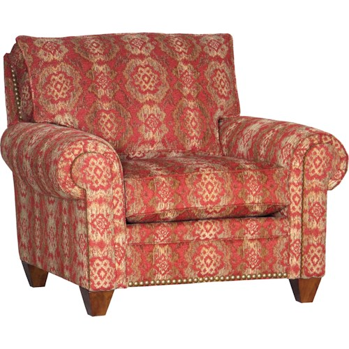 Mayo 2840 Traditional Upholstered Chair with Tapered Legs