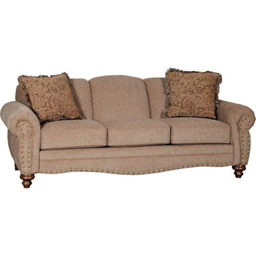 Mayo 4335 Traditional Stationary Sofa with Spool Legs