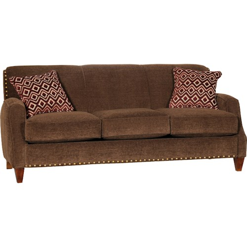 Mayo 8200 Contemporary Stationary Sofa with Tapered Legs
