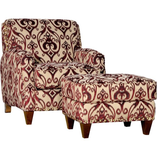 Mayo 8200 Contemporary Upholstered Chair and Ottoman