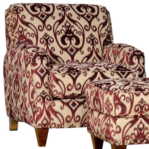Mayo 8200 Contemporary Upholstered Chair with Tapered Legs