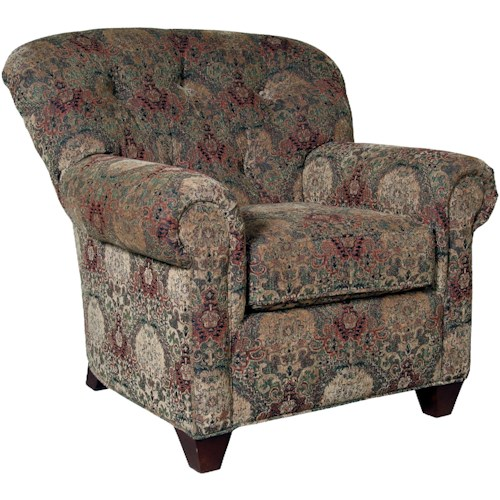 Mayo 8850 Upholstered Chair with Tufted Back