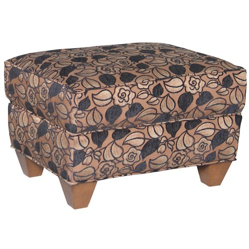 Mayo 8850 Upholstered Ottoman with Tapered Legs