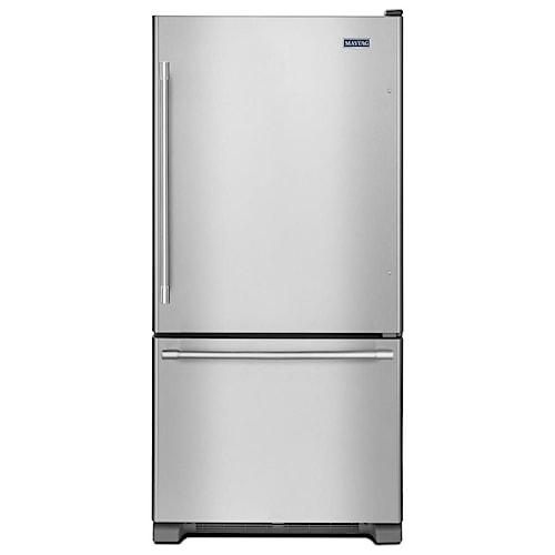 Maytag Bottom Freezer Refrigerators - Maytag 33-Inch Wide Bottom Mount Refrigerator - 22 Cu. Ft.