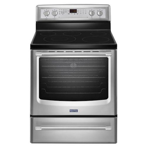 Maytag Electric Ranges 6.2 cu. ft. Electric Freestanding Oven with Convection Heating