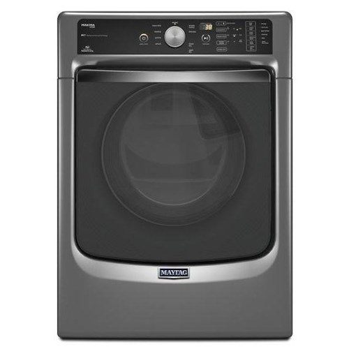Maytag Gas Dryers- Maytag Maxima® ENERGY STAR® Front Load Steam Dryer with SoundGuard® Stainless Steel Dryer Drum – 7.4 cu. ft.