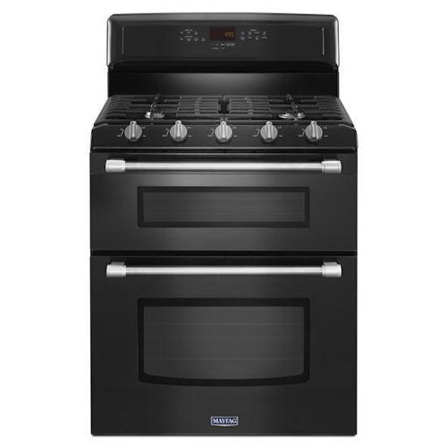 Maytag Gas Ranges 6.0 Total cu. ft. Gemini® Double Oven Gas Stove with EvenAir™ Convection