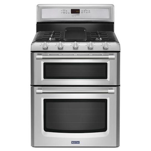Maytag Gas Ranges 6.0 Total cu. ft. Gemini® Double Oven Gas Stove with EvenAir™ True Convection