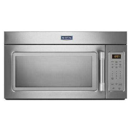 Maytag Microwaves 1.7 cu. ft. Compact Over-the-Range Microwave with Stainless Steel Handle