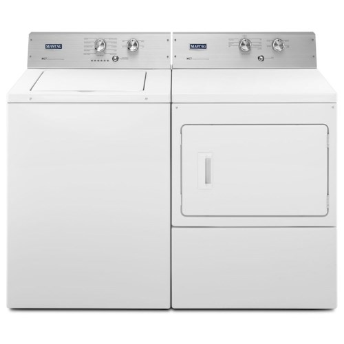 Maytag Washer and Dryer Sets 3.6 Cu. Ft. Extra-Large Capacity Top Load Washer and Extra-Large Capacity Dryer with IntelliDry® Sensor