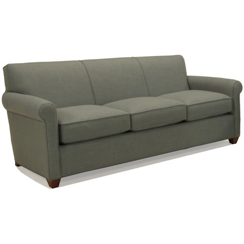 BeModern Hawthorne Three Seat Sofa with Rolled Arms