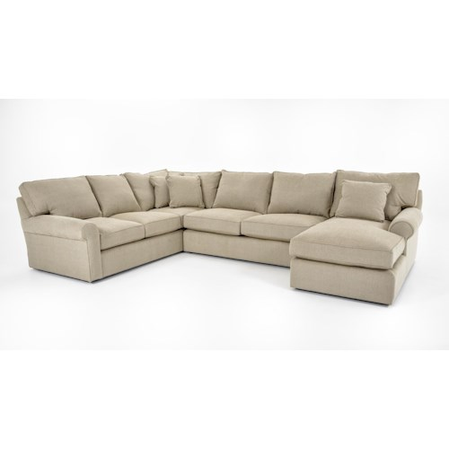 Freestyle Collections 0659 Harris Sectional Sofa with Right-Arm-Facing Chaise