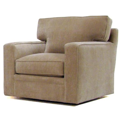 BeModern Porter Contemporary Upholstered Swivel Chair