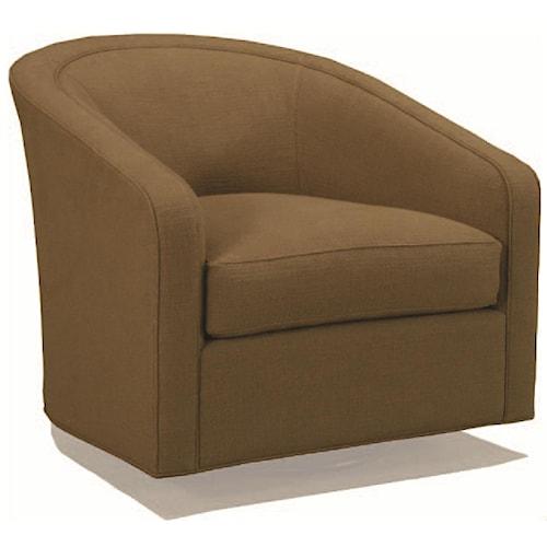 BeModern Carter Contemporary Swivel Barrel Chair