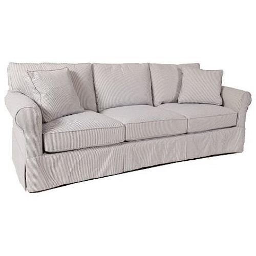 BeModern Geneva Slipcover Grand Sofa with Rolled Sock Arms