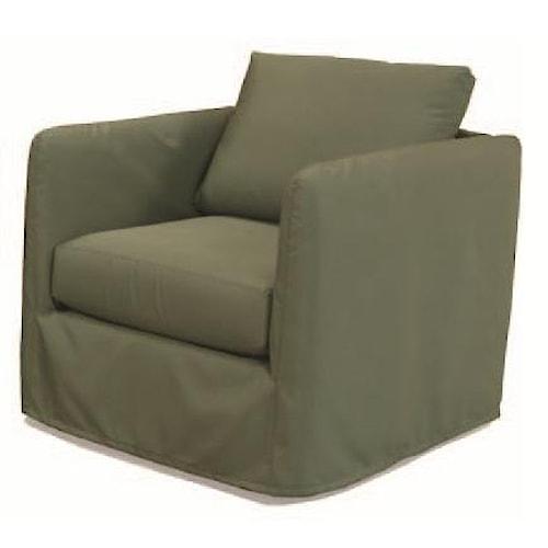 BeModern Outdoor Living Indoor/Outdoor Contemporary Slipcovered Sofa